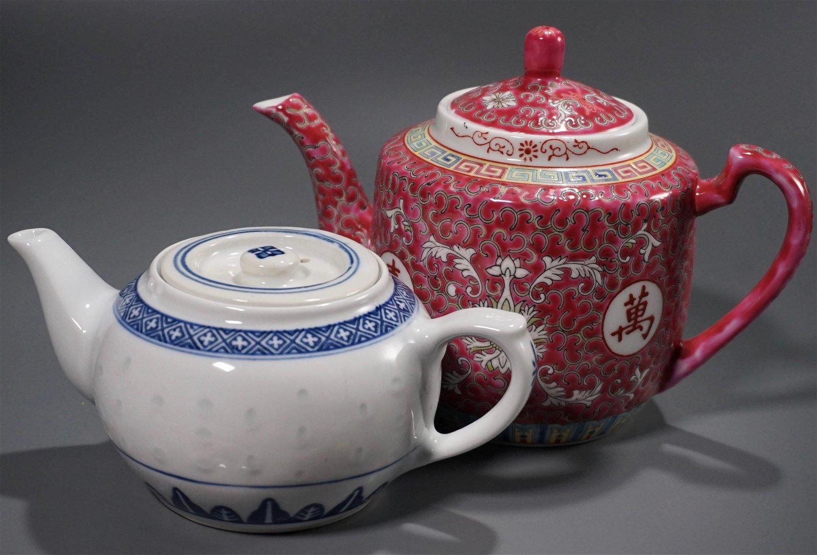 Chinnese PorcelainTeapots Lot of 2