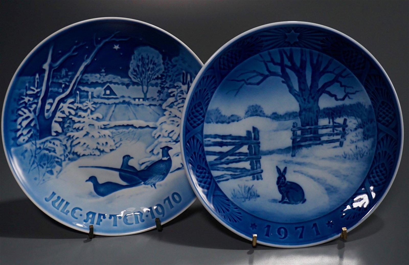 Copenhagen B&G Christmas Plate 1970 - 71 Lot of 2