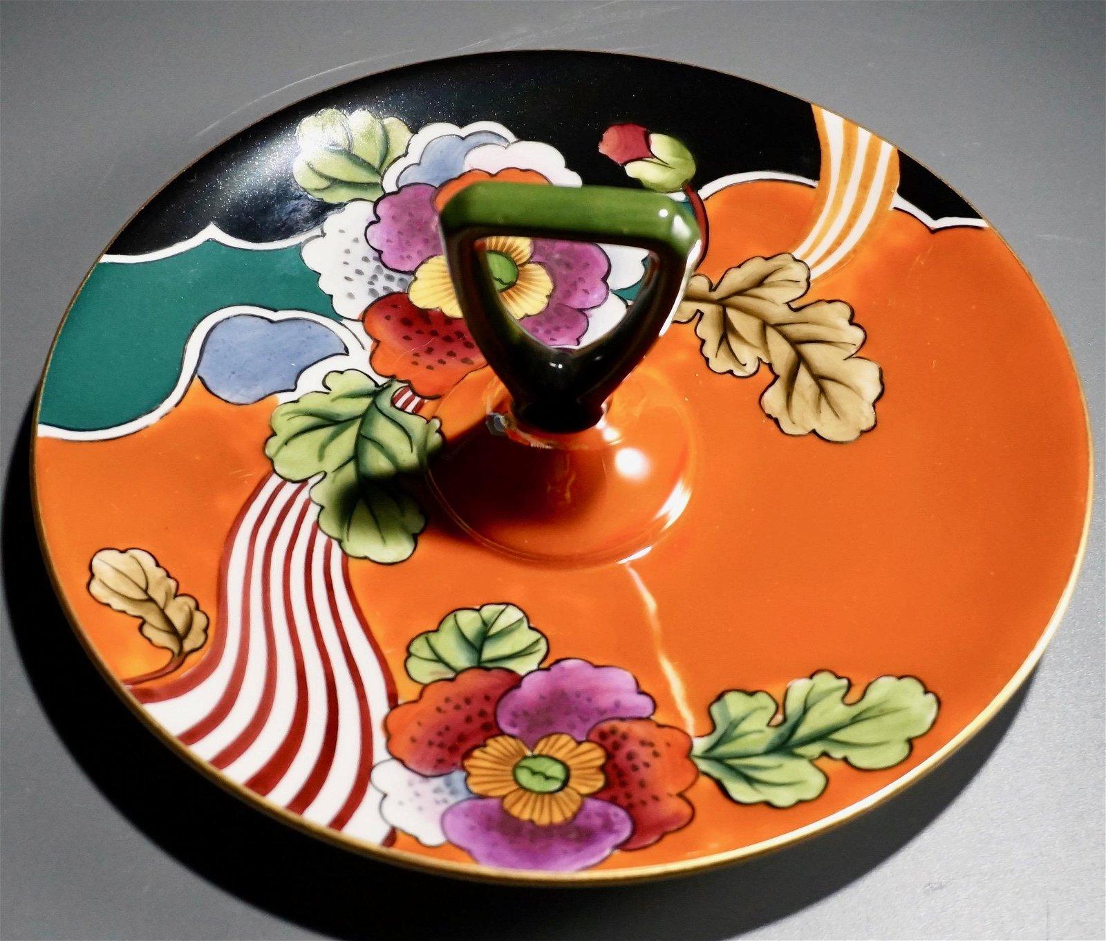 Art Deco Vintage Noritake Tidbit Serving Plate Center