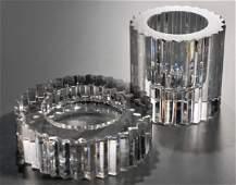 Rosenthal Studio Line Crystal Gear Candleholders Lot 2