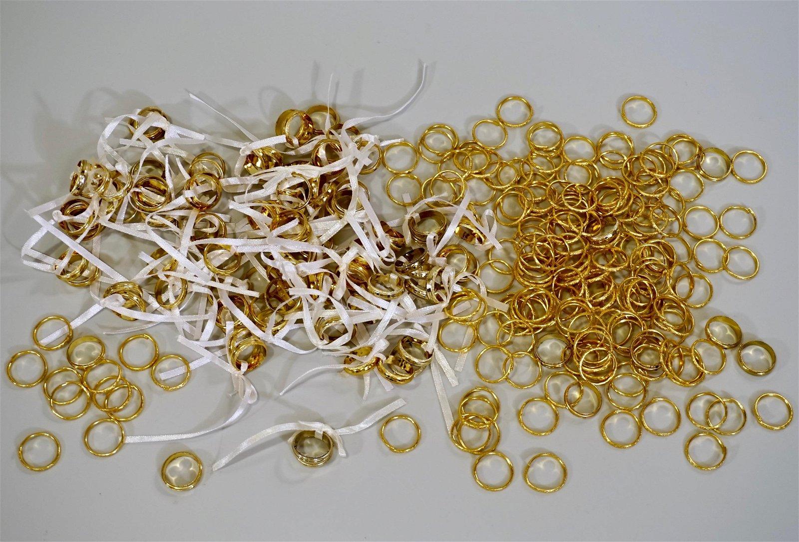 Gold Marriage Band Wedding Ring Decor Large Lot