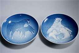 Mother Day BG Copenhagen Porcelain Bear Horse Plate
