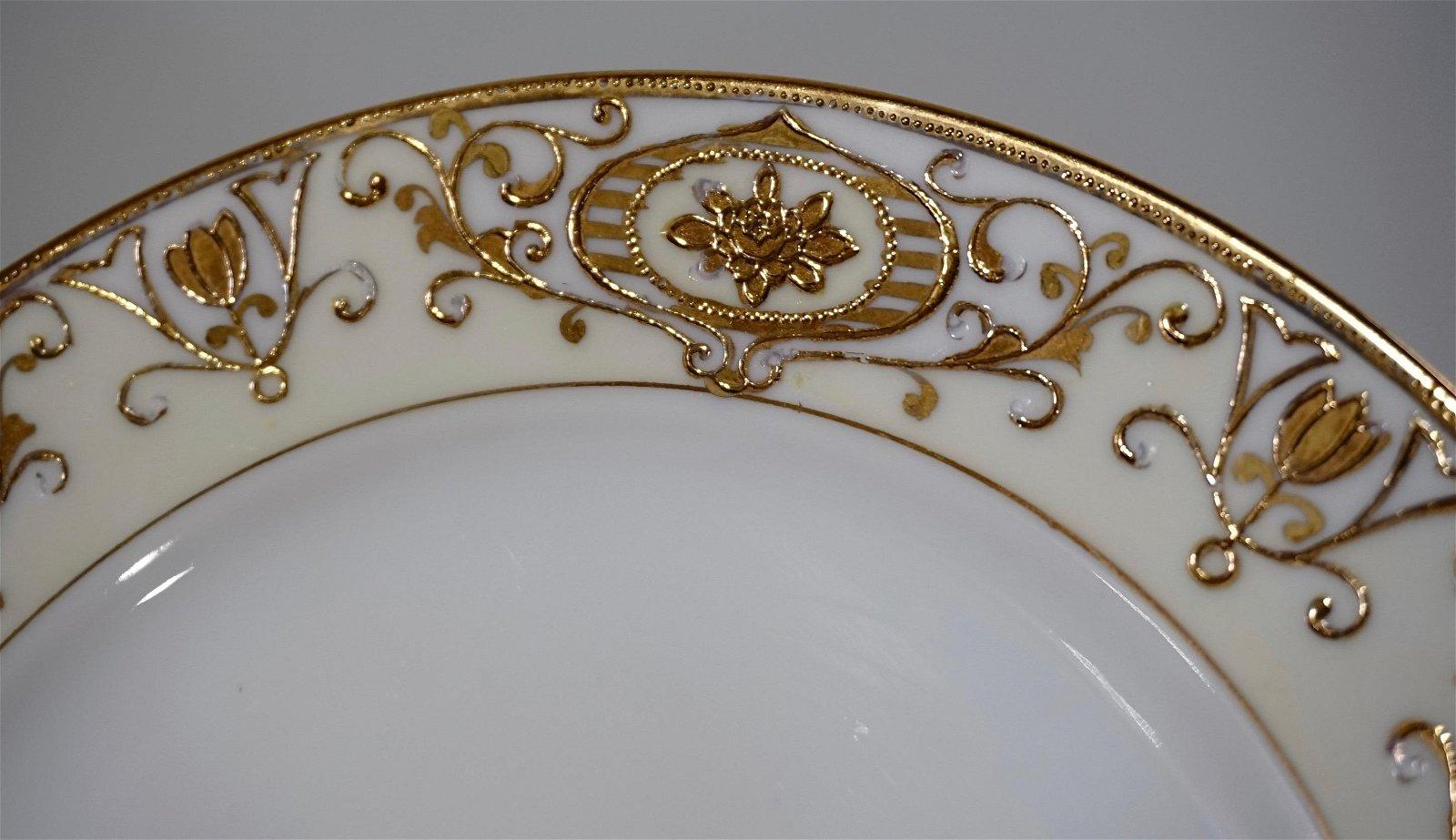 Noritake Gold Moriage Vintage Porcelain Plate