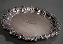 Quality Baroque Silver Plated Serving Tray Heavy Gauge