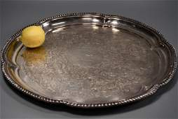 Large Electro Plated Silver Serving Tray