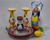Lot of Italian Hand Painted Ceramic