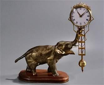 Vintage Elephant Swing Clock Made in Japan