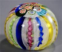 Venetian Latticino Zanfirico Millefiori Large Ball