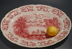 Johnson Brothers Mulberry Oval Serving Platter Mount