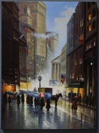 New York Painting on Canvas after Original Art