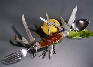 Multifunctional Folding Knife Vintage Multi Tool