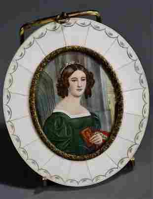 Miniature Portrait Anna Hillmayer after 1829 Painting