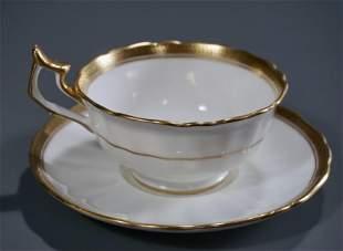 Cauldon China Tea Cup Saucer Set Plummer New York