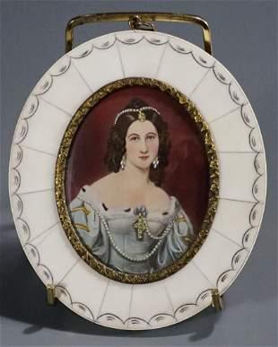 Miniature Painting Beauty Portrait Charlotte von Hagn
