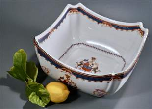 Chinese Export Porcelain Armorial Square Bowl