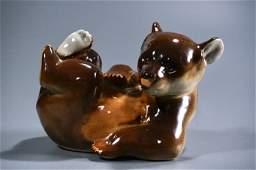 Vintage Mid Century Porcelain Bear Figurine