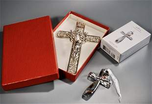 Ornate Crucifix Catholic Cross Eternal Ornament Lot