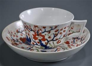 Royal Crown Derby Cherry Tree Imari Cup Saucer Set
