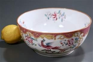 Minton English Porcelain Chelsea Bird Bowl c1840