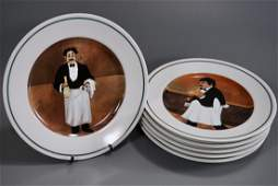 Sommelier Porcelain Plate Lot of 6 Williams Sonoma Plat