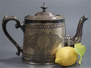 English Edwardian Silver Plated Teapot