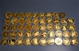Franklin Mint States of the Union Gold Medal Governor's