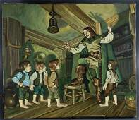 Hobbit Storytale Oil on Canvas Painting