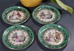 Miniature German Porcelain Dollhouse Size Plate Lot of