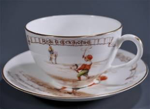 Victorian Royal Doulton Nursery Rhymes Child Cup &