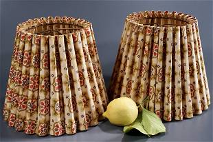Pair Vintage Country Style Clip Lamp Shades