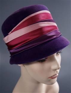 Italian Felt Retro Style Cloche Ladies Hat