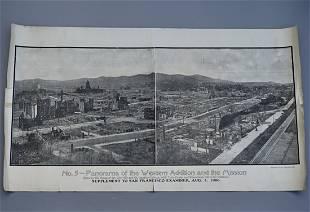 1906 San Francisco Earthquake Panorama No 5 depicts