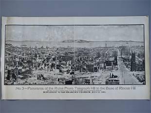Panorama of San Francisco Disaster 1906 Earthquake
