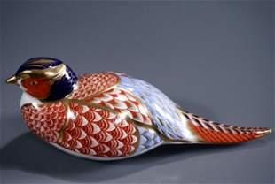 Royal Crown Derby Pheasant Imari Porcelain Figurine