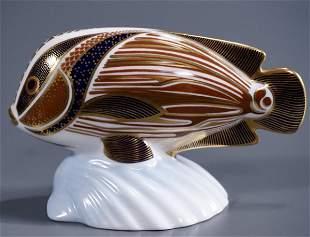 Royal Crown Derby Tropical Fish Figurine Imari China