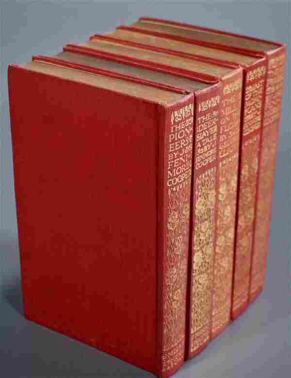 Antique Books James Fenimore Cooper 5 Volumes