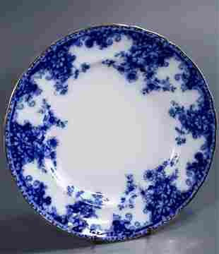 Grindley Osborne Flow Blue Dinner Plate Antique British