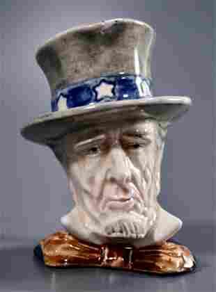 Uncle Sam Toby Mug Vintage Americana Character Jug