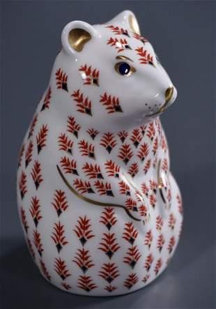 Royal Crown Derby Hamster Paperweight Imari Porcelain