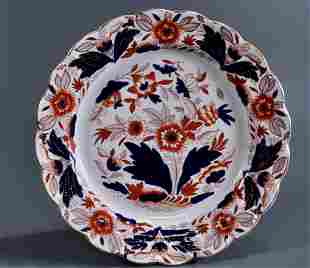 Vintage Dovedale English Imari Pattern Plate by Booths