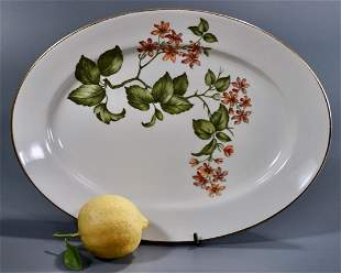 Warwick China Porcelain Oval Tray Vintage Platter