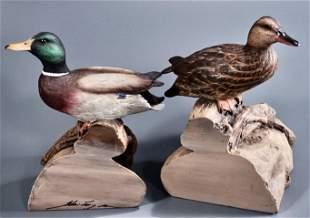 Mallard Duck Figural Bookends Set of 2