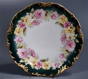 French Limoges Elite Works Antique Porcelain Plate