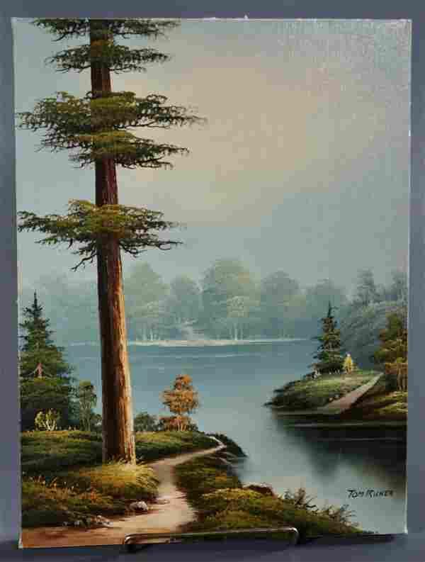 Tom Ricker American School Oil on Canvas Painting