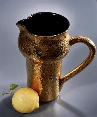 Italian 22K Gold Modern Pottery Mid Century Ceramic