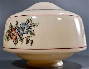 Art Deco Ceiling Lamp Globe Shade Floral Design