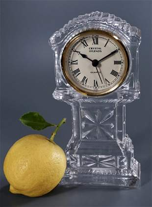 Crystal Legends Quartz Grandfather Style Desk Clock