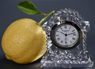 Waterford Crystal Miniature Clock Shaped as Vintage