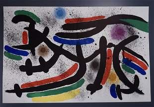 Joan Miro Original Lithograph IX Volume 5 Unframed