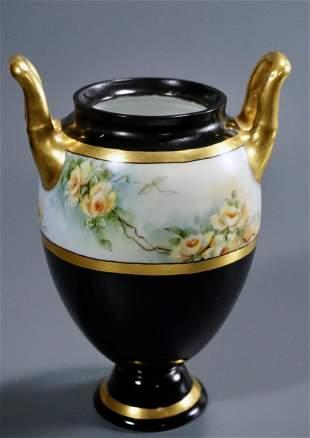 Antique German Porcelain Vase Hand Painted Urn